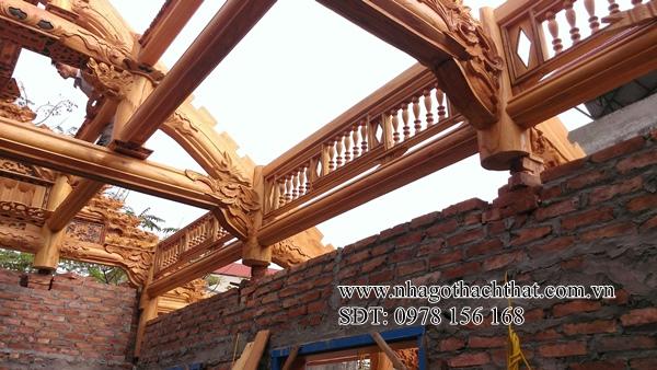nhà 3 gian gỗ xoan