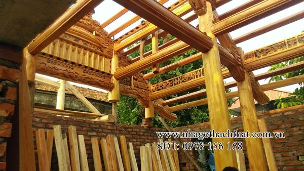 nhà gỗ xoan 4 gian