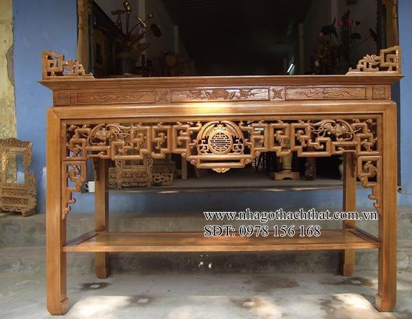 mẫu bàn thờ án gian thạch thất