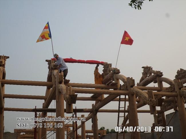 Lễ cất  nóc ngôi Tam Bảo Chùa Kênh