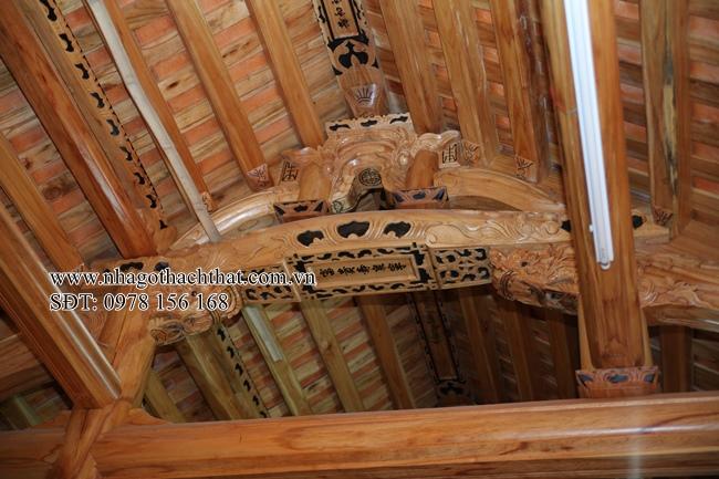 nhà 5 gian gỗ xoan