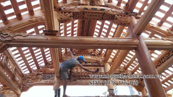 mẫu nhà 3 gian gỗ xoan