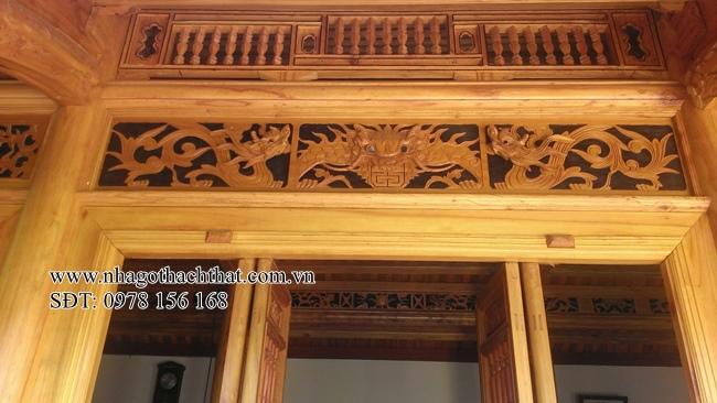 nhà gỗ xoan 5 gian