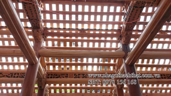 nhà ba gian gỗ xoan đào