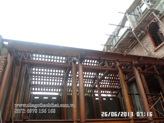 nhà gỗ 3 gian bằng gỗ lim