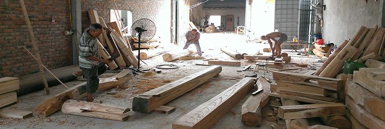 nhà gỗ thạch thất
