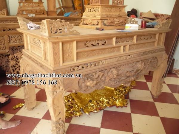 mẫu sập thờ gỗ mít