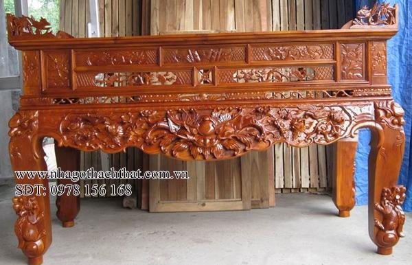 sập thờ gỗ mít thạch thất