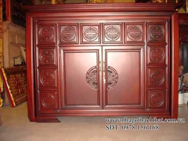 tủ thờ gỗ đơn giản