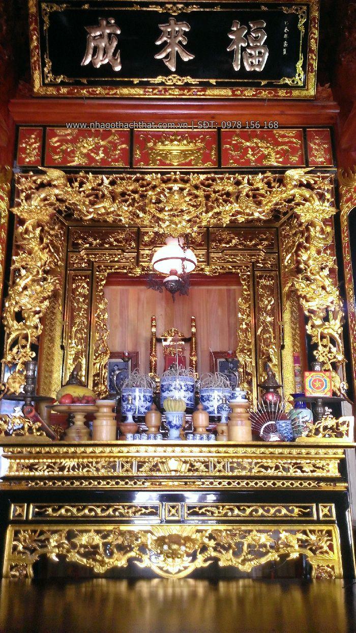 bàn thờ nhà gỗ cổ