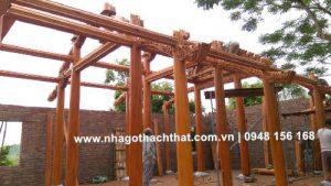 nhà gỗ 5 gian 26 cột tại bắc giang