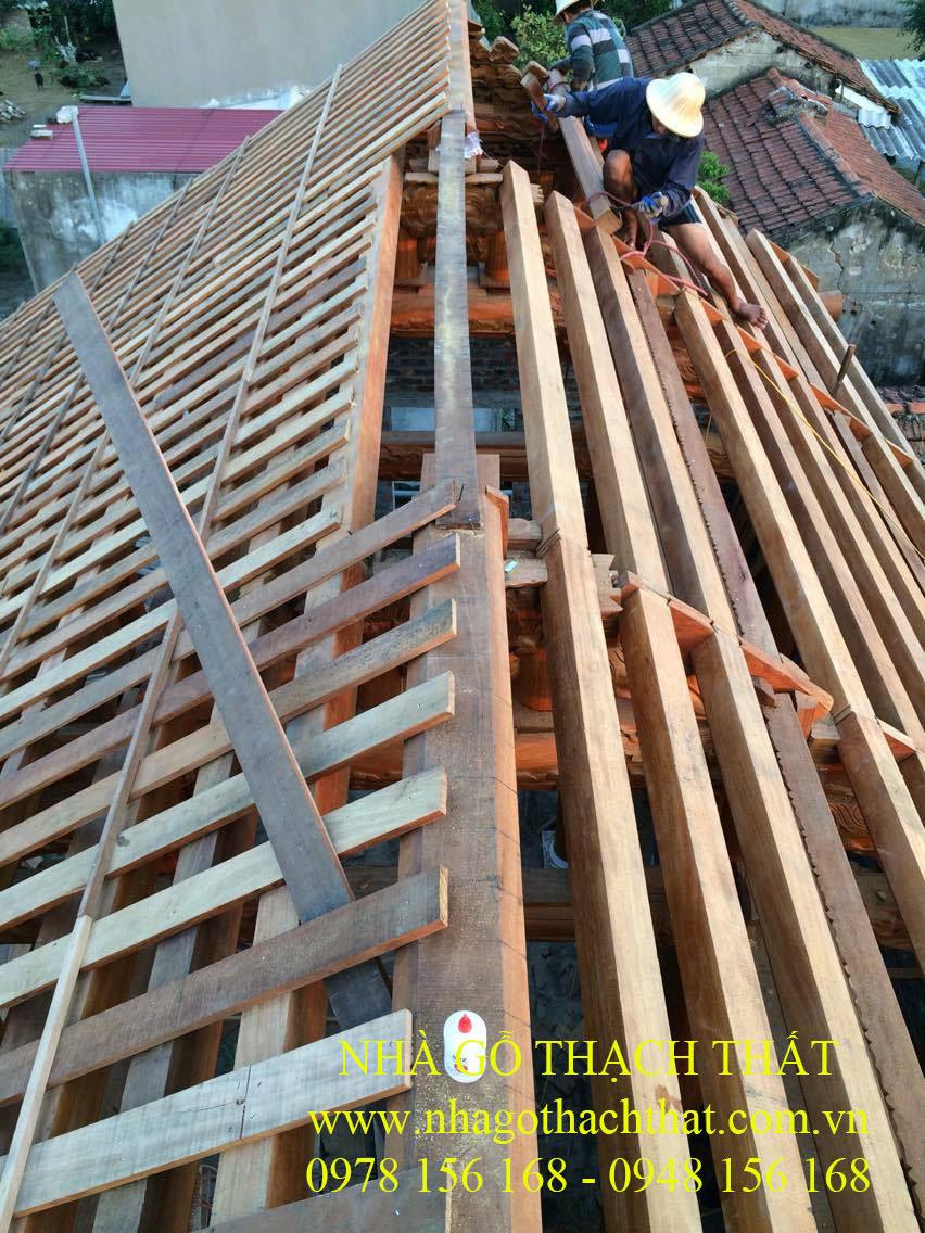 nhà thờ họ 3 gian gỗ lim