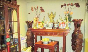 Đại kỵ đặt bàn thờ tổ tiên