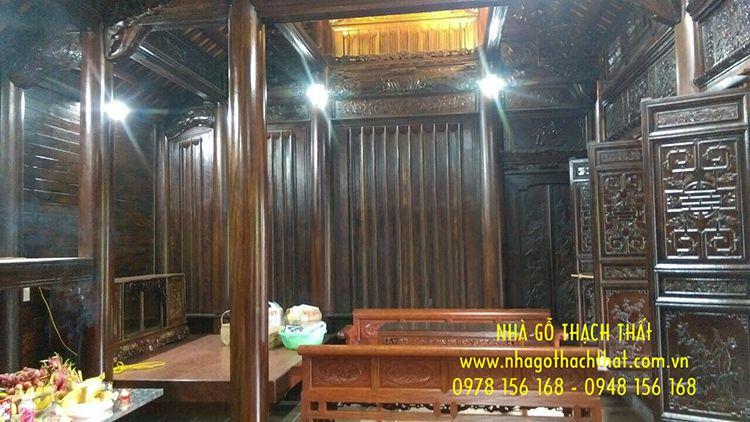 nhà gỗ lim 3 gian phú thọ