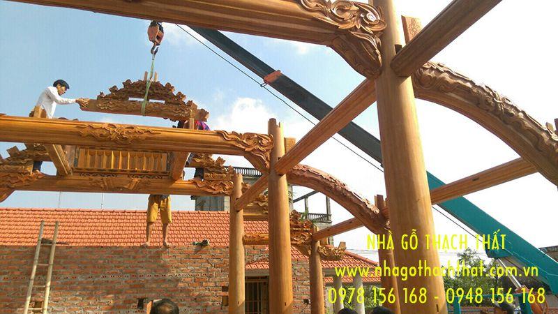 nhà 3 gian gỗ lim nam phi tỉnh thái bình