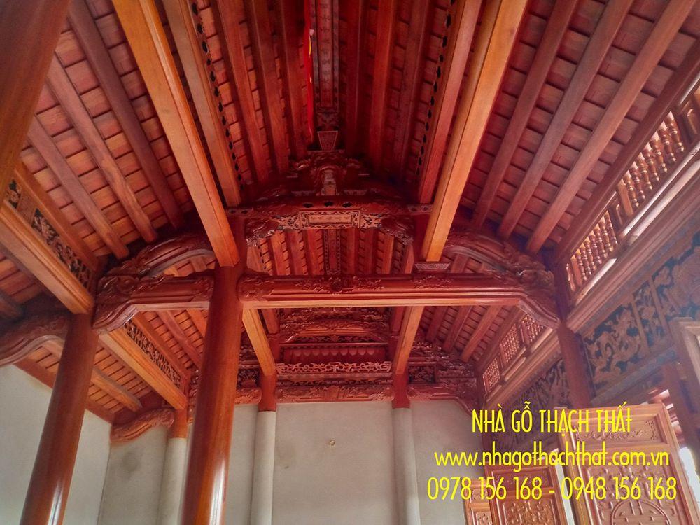 nhà gỗ lim 3 gian 12 cột hưng yên