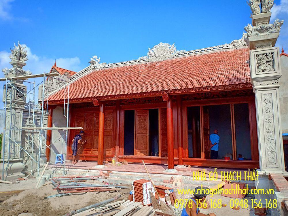 Nhà gỗ lim 3 gian 12 cột tại xã Đại Hưng – Khoái Châu – Hưng Yên