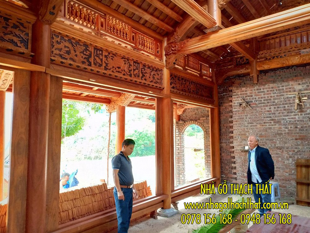 Nhà gỗ lim 3 gian 12 cột – Phù Linh – Phú Thọ