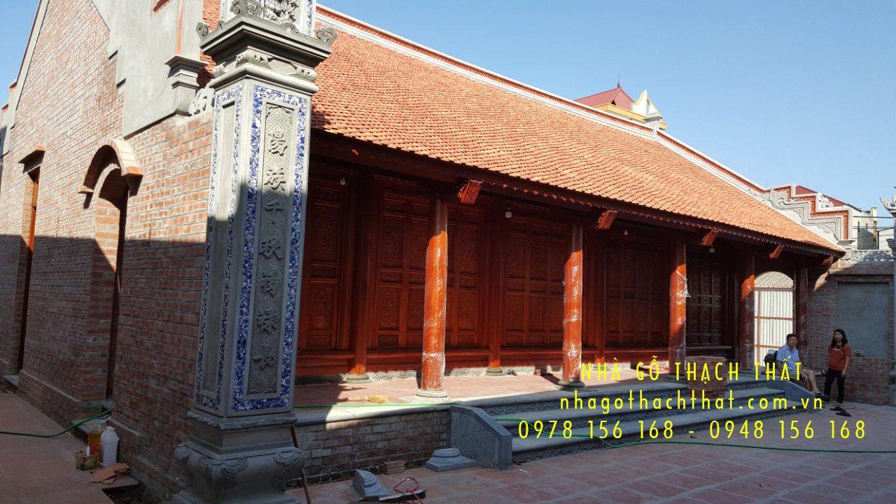 Nhà gỗ lim 5 gian 28 cột tại Bắc Hồng – Đông Anh – HN